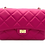 Front of Classy Fuschia Leather Bag