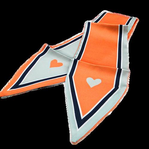 Heart Orange Scarf