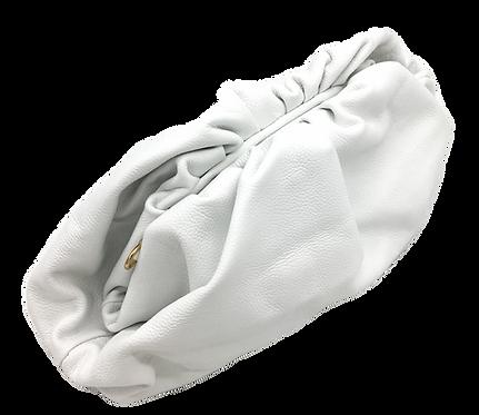 White Leather Bag - Big Size