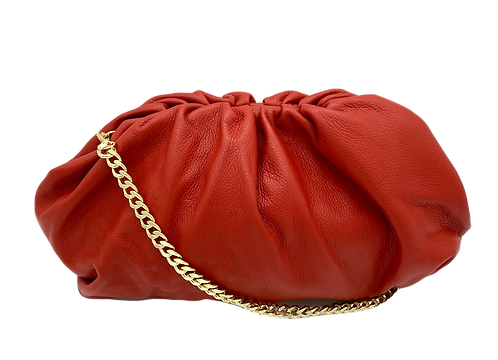 Red Leather Bag - Big Size