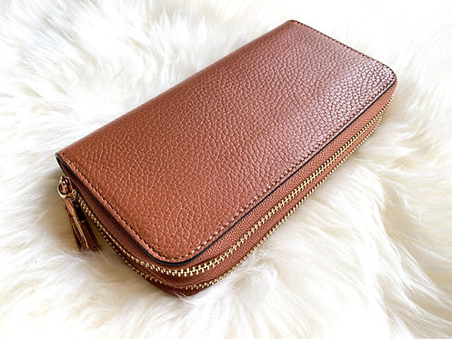 Double Leather Wallet - Camel