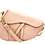 Thumbnail: Pink Assymetric Leather Bag - Small