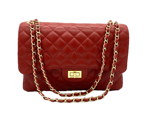 Dark Red Classic Bag Front with straps