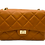 Front of camel classy leather bag