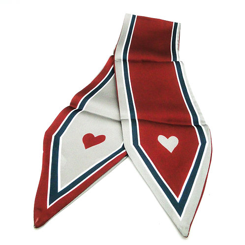 Heart Bordeaux Scarf