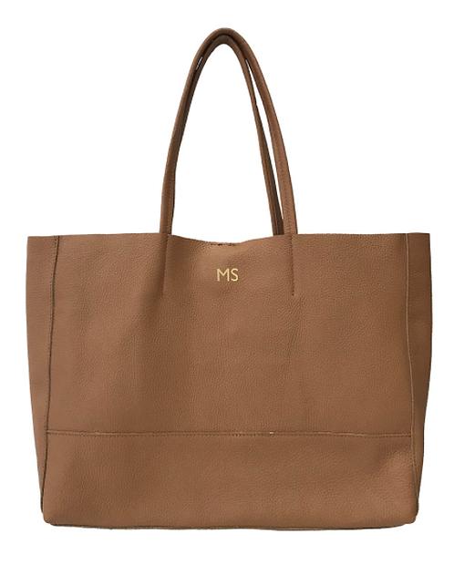 Shopper Camel Leather Bag