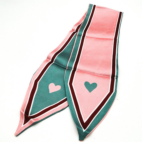 Heart Pink and Blue Scarf