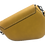 Assymetric Yellow leather bag back