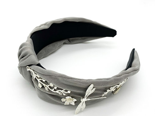 Gray Fairie Headband