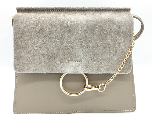 Chloé Faye Inspired Crossbody Leather bag Taupe front