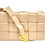 Front of nude braid bag with strap