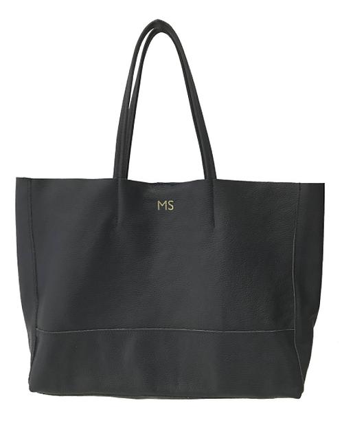 Shopper Black Leather Bag