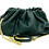 Green Pouch leather bag with gold strap