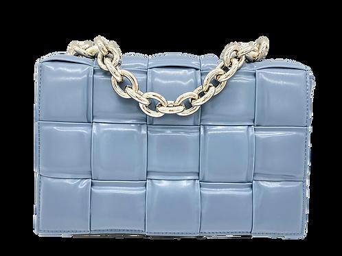 Braid Chain Blue Bag
