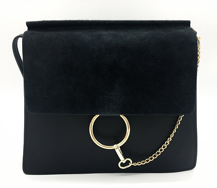 Chloé Faye Inspired Black Crossbody Leather Crossbody Bag