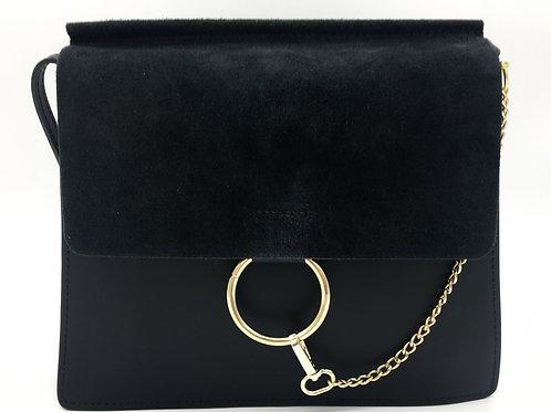 Chloé Faye Inspired Black Crossbody Leather Crossbody Bag