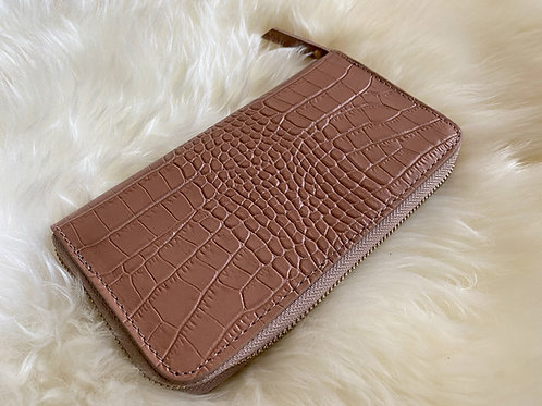 Nude Croco Leather Wallet
