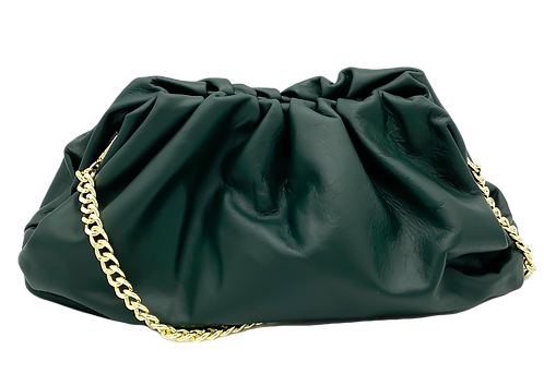 Green Pouch leather bag