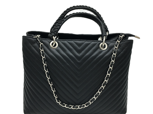 Designer Inspired Black Bag