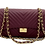 Thumbnail: Classy Stripes Bordeaux Leather Bag