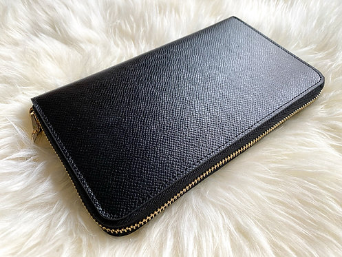 Saffiano Leather Wallet - Black