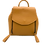 Front detail of camel leather backpack