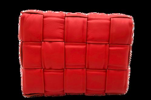 Leather Braid Red Bag