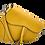 Thumbnail: Bolsa de couro assimétrica amarela - tamanho grande