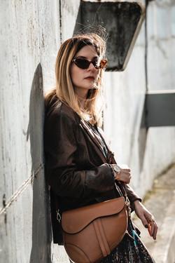 Cátia Carriço designer inspired assymetric camel leather bag