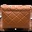 Back of serena camel leather shoulder bag