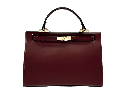 Bordeaux Trendy Bag - Leather Handbag
