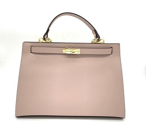 Nude Trendy Bag - Leather Handbag