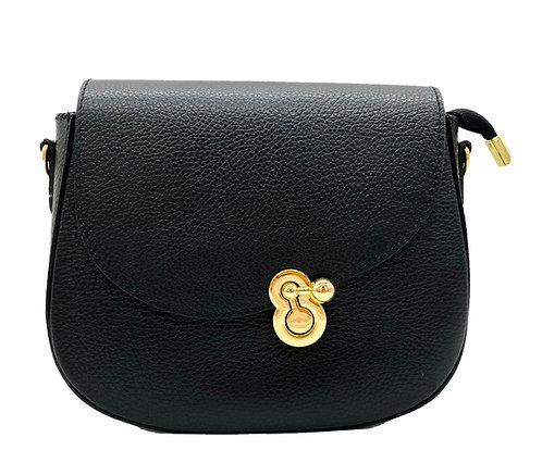 Bow Black Shoulder Leather Bag