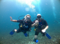 Dive with someone you love!