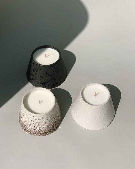 Ceramic candle jar set