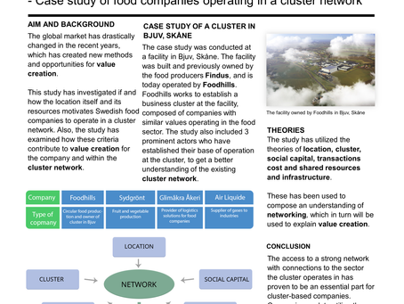 Value creation through cluster networks in the Swedish food sector