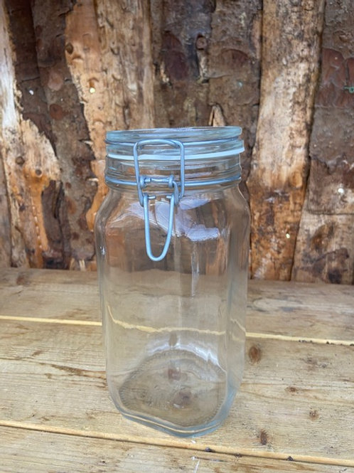 Sealed glass jar