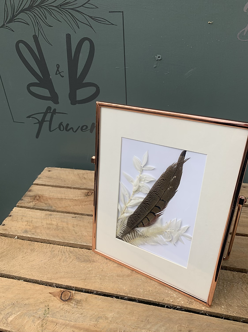 Dried flowers in Rose Gold Frame