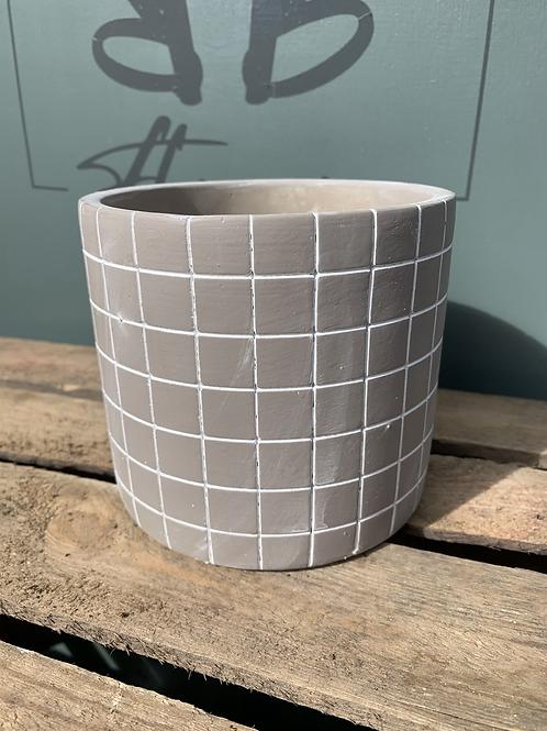 Ceramic Chequered Pot