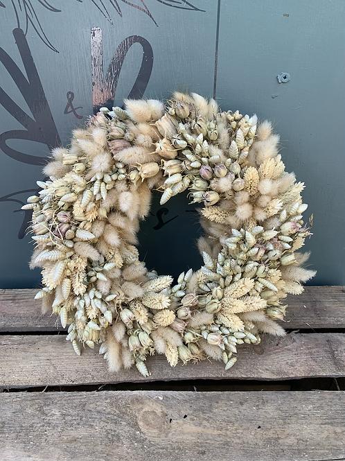 Natural Dried Flower Wreath