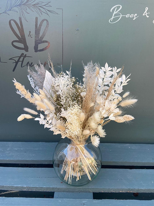 Dried Natural in Ball Vase