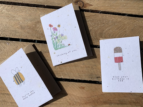 Wild flower seed message card - 3 options