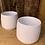 Thumbnail: Ceramic White Lucca Pot - Medium