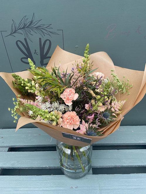Fresh Flower Bouquet in Tall Vase