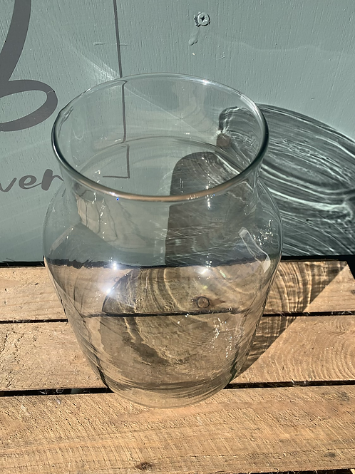 Glass Rouen Vase 25cm