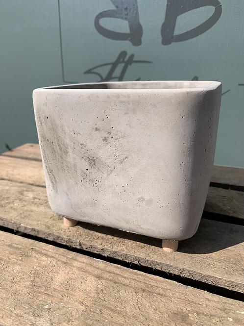 Grey Ceramic Square Pot