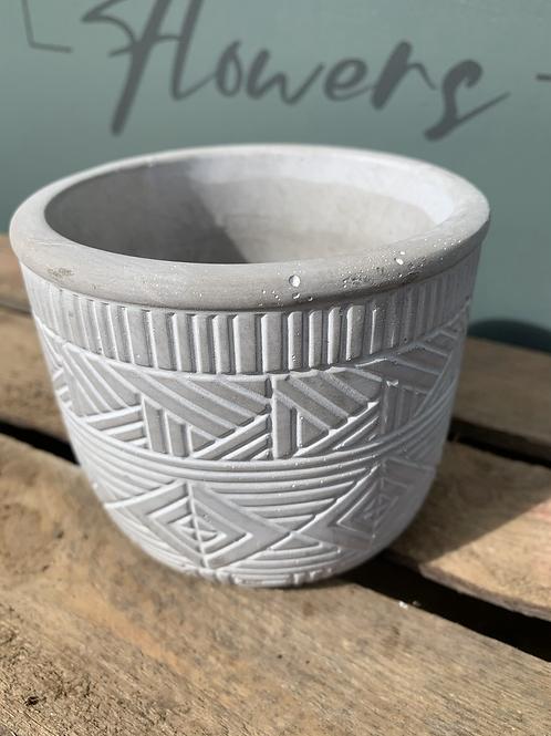 Pattern Grey Pot