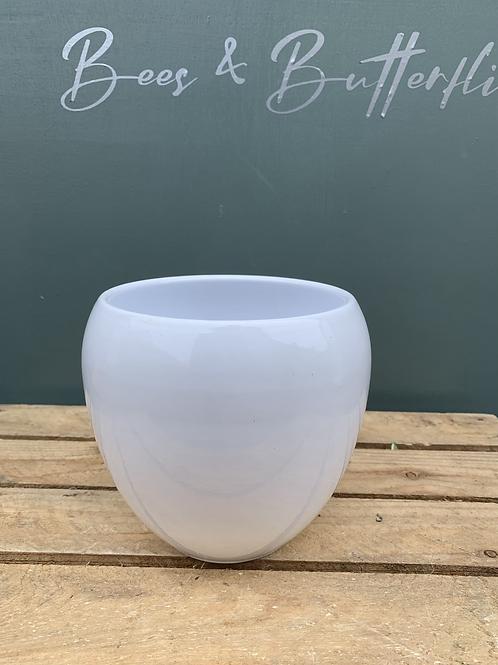White Shine Pot
