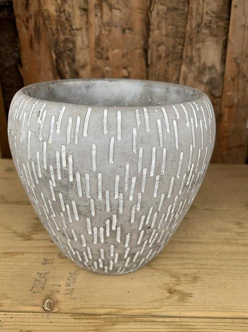 Grey Ceramic Novelle Pot - Large