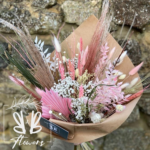 Dried Pink and Natural Bouquet - Multiple size/price options